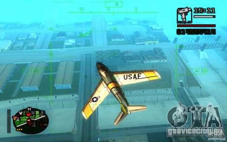 F 86 Sabre для GTA San Andreas вид слева