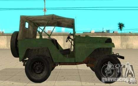 ГАЗ-64 скин 1 для GTA San Andreas вид слева