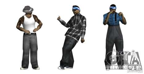 Новый скин пак для банды Rifa для GTA San Andreas