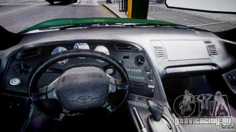 Toyota Supra MKIV 1995 v2.0 Final для GTA 4 вид сзади