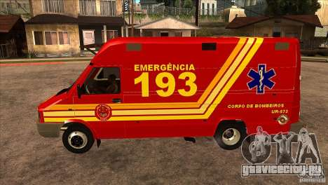 Iveco Daily UR Bombeiros SP для GTA San Andreas вид слева