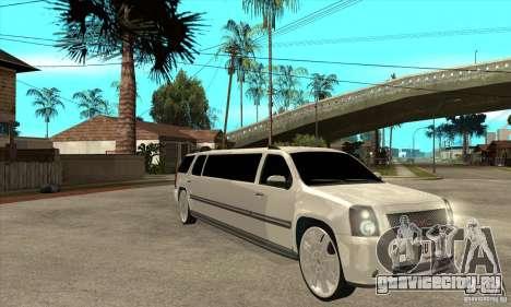 GMC Yukon 2008 для GTA San Andreas вид сзади