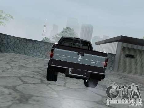 Lincoln Mark LT 2013 для GTA San Andreas вид справа