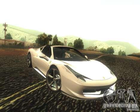 Ferrari 458 Italia Convertible для GTA San Andreas вид сзади
