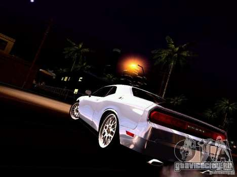 Dodge Challenger SRT8 2009 для GTA San Andreas вид снизу