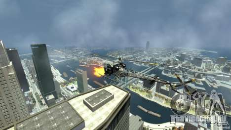 Sparrow Hilator для GTA 4 вид изнутри