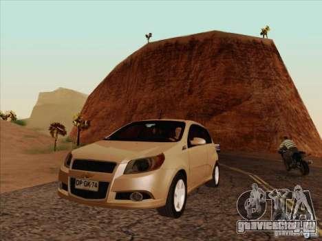 Chevrolet Aveo LT для GTA San Andreas вид изнутри