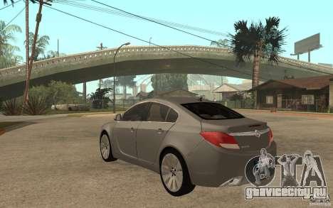 Opel Insignia 2010 для GTA San Andreas вид сзади слева