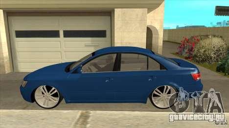 Hyundai Sonata NF для GTA San Andreas вид слева