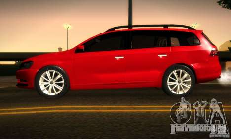 Volkswagen Passat B7 2012 для GTA San Andreas вид сзади