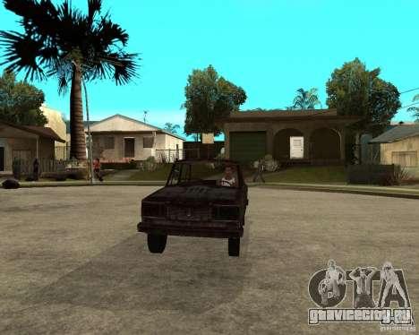 ВАЗ-2106 для GTA San Andreas вид сзади