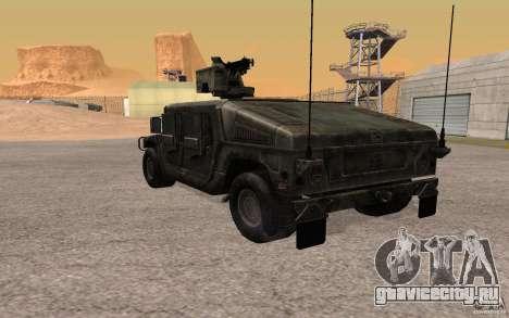Hummer H1 from Battlefield 3 для GTA San Andreas вид справа