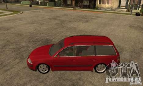 VW Passat B5 Variant для GTA San Andreas вид слева