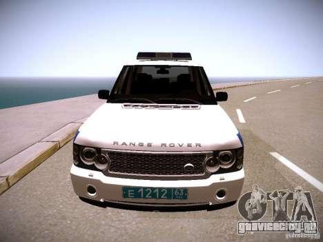 Range Rover Supercharged 2008 Полиция ГУВД для GTA San Andreas вид сзади