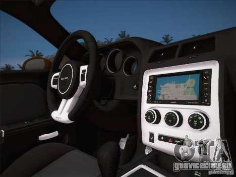 Dodge Challenger SRT8 2010 для GTA San Andreas вид сбоку