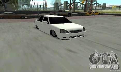 Lada Priora Low для GTA San Andreas вид слева