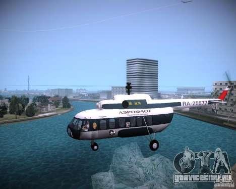 Ми-8 для GTA Vice City вид сзади слева
