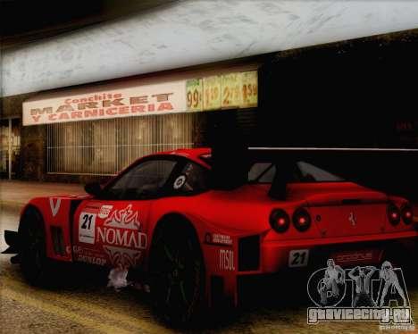 Ferrari 550 Maranello Super GT500 для GTA San Andreas вид справа