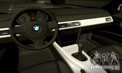 BMW 330 E90 для GTA San Andreas вид сверху