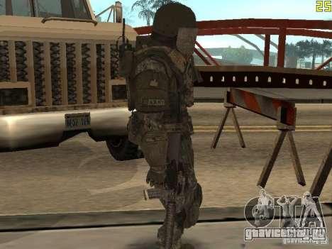 Боевой солдат из CoD:Mw2 для GTA San Andreas четвёртый скриншот