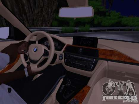 BMW 335i F30 Coupe для GTA San Andreas вид изнутри