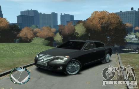 Hyundai Genesis Sedan Elite для GTA 4 вид слева