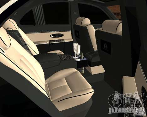 Maybach 57S для GTA San Andreas вид сзади