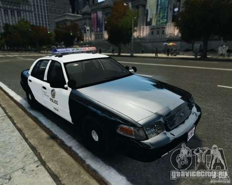 Ford Crown Victoria LAPD для GTA 4 вид слева