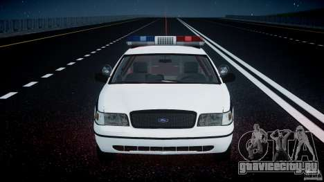 Ford Crown Victoria FBI Police 2003 для GTA 4 двигатель