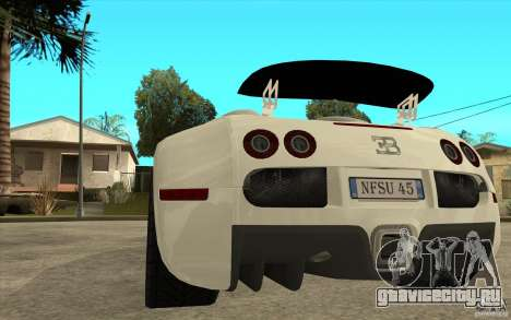 Спойлер для Bugatti Veyron Final для GTA San Andreas третий скриншот