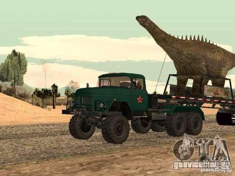 Прицеп Динозавр для GTA San Andreas вид сзади слева