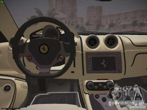 Ferrari California для GTA San Andreas вид сзади