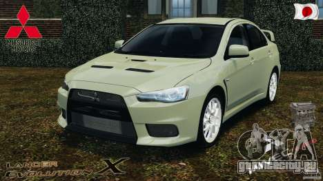 Mitsubishi Lancer Evolution X 2007 для GTA 4