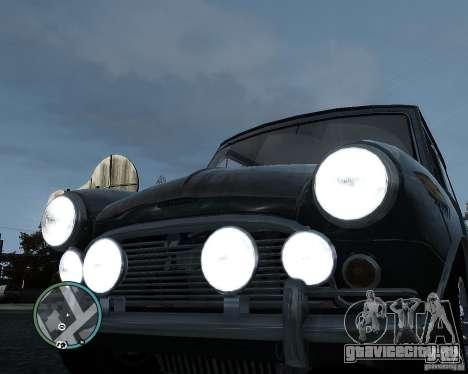 Austin Mini Cooper S для GTA 4 вид изнутри