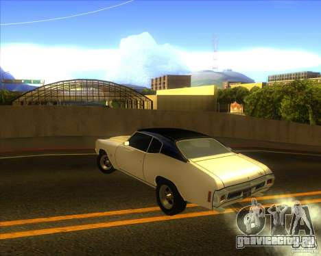 Chevy Chevelle SS stock 1970 для GTA San Andreas вид сзади слева