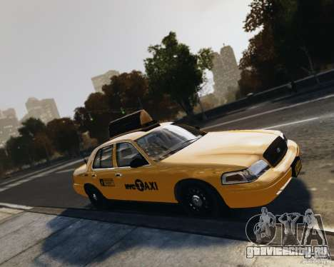 Ford Crown Victoria NYC Taxi 2012 для GTA 4 вид сбоку
