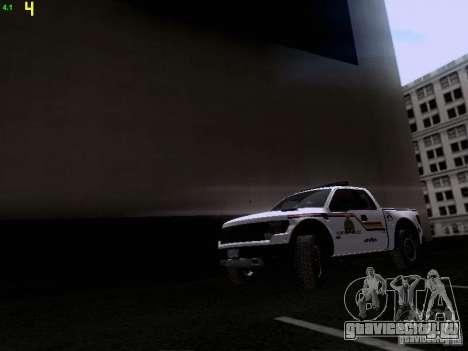 Ford Raptor Royal Canadian Mountain Police для GTA San Andreas вид слева