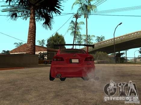 Lexus Drift Car для GTA San Andreas вид сзади слева