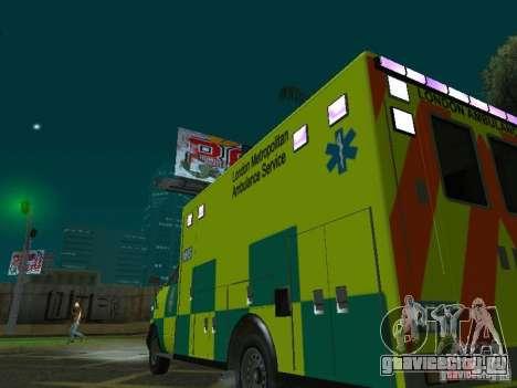 London Ambulance для GTA San Andreas вид сбоку