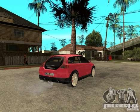 VOLVO C 30 T5 DEL 2008 для GTA San Andreas вид сзади слева
