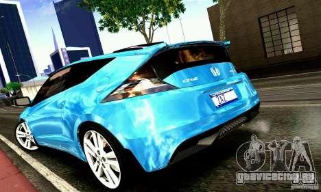 Honda CR-Z 2010 V2.0 для GTA San Andreas вид сзади слева