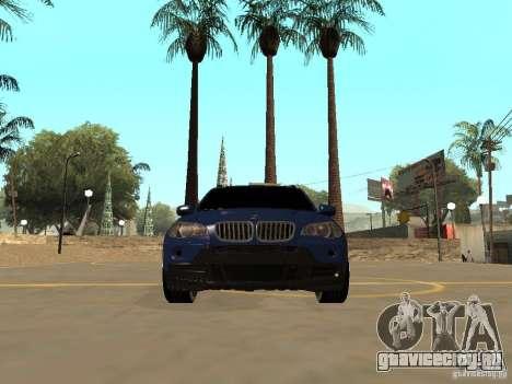 BMW X5 для GTA San Andreas вид изнутри