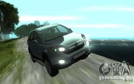 Honda CR-V для GTA San Andreas вид сзади
