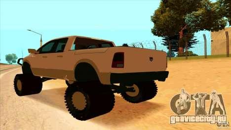 Dodge Ram 2500 4x4 для GTA San Andreas вид слева