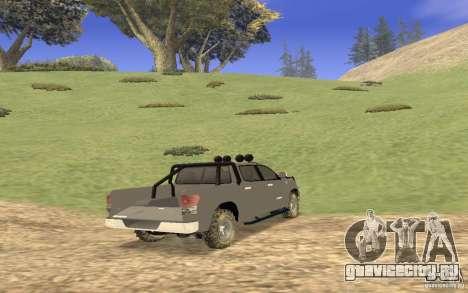 Toyota Tundra 4x4 для GTA San Andreas вид справа