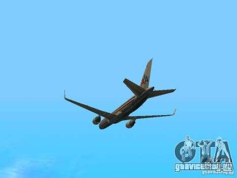 Boeing 757-200 American Airlines для GTA San Andreas вид изнутри