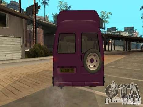ГАЗель 32213 маршрутное такси для GTA San Andreas вид сзади