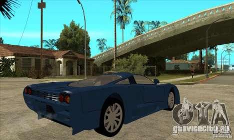 Saleen S7 v1.0 для GTA San Andreas вид справа