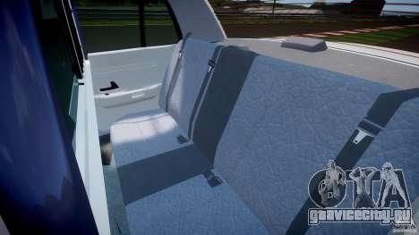Ford Crown Victoria US Marshal [ELS] для GTA 4 вид сзади