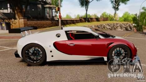 Bugatti Veyron 16.4 Body Kit Final Stock для GTA 4 вид слева